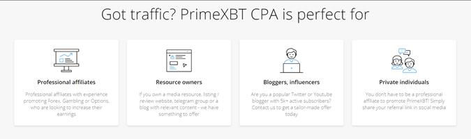PrimeXBT CPA USPs