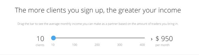PrimeXBT income calculator