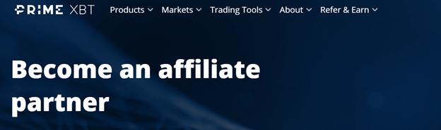 PrimeXBT affiliate partner banner