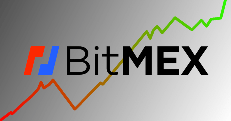 BitMEX logo in front of a chart