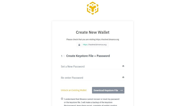Create New Wallet
