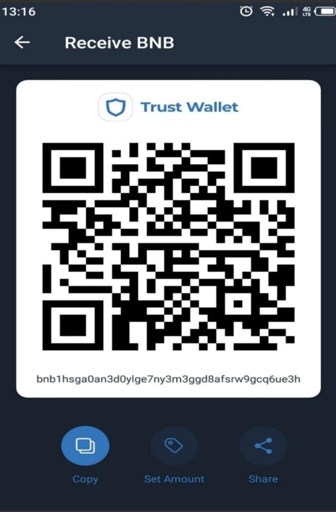 Trust Wallet QR code