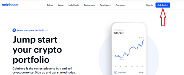 Coinbase 'Get Started'