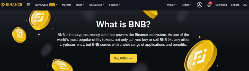 Binance 'What is BNB' banner